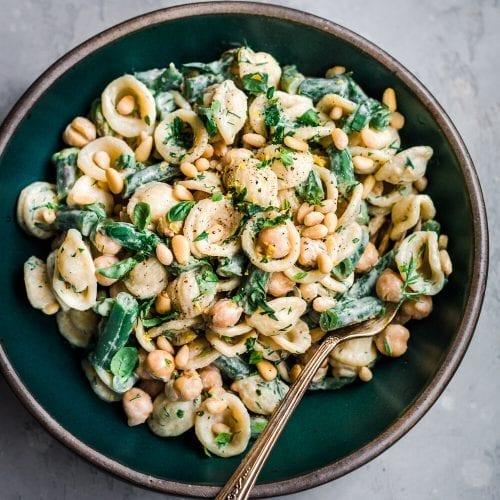 Tahini and Greens Pasta Salad
