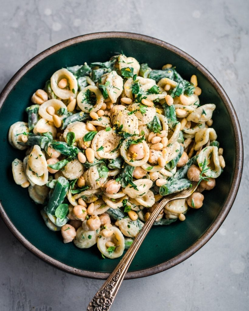 Tahini and Greens Pasta Salad