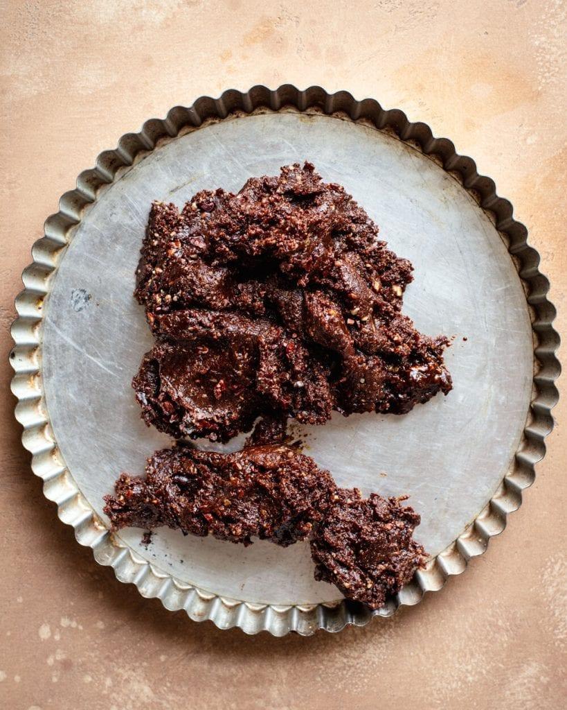 crust unshaped in tart pan