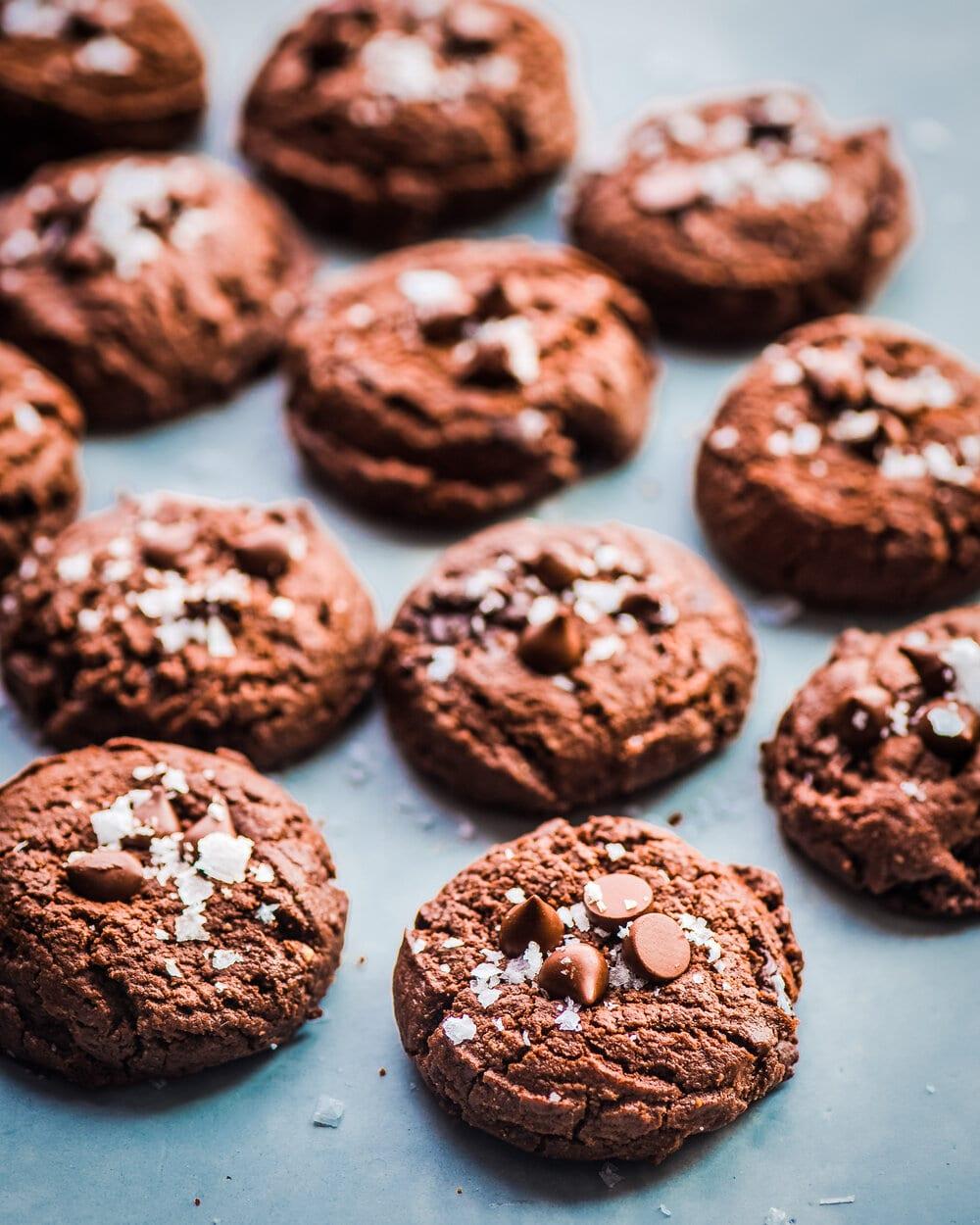 Vegan Triple Chocolate Cookies