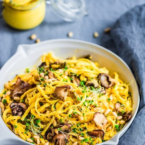Spicy Turmeric Cashew Cream Pasta