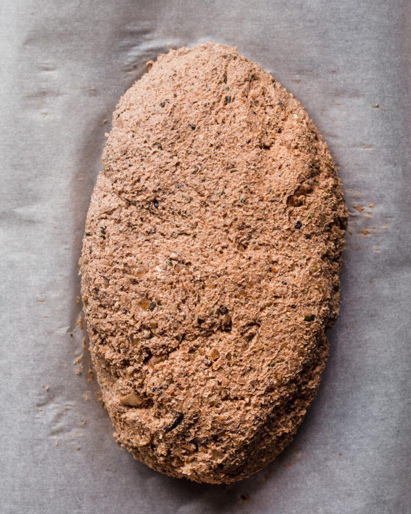 vegan wellington in a log form