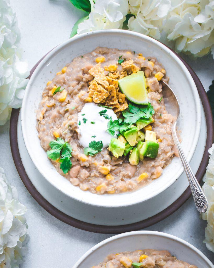 Instant Pot Vegan White Bean Quinoa Chili