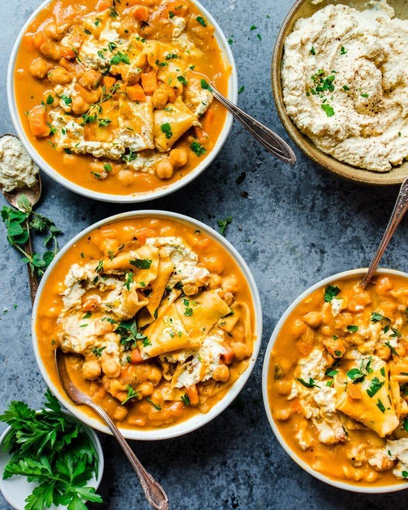 pumpkin lasagna soup