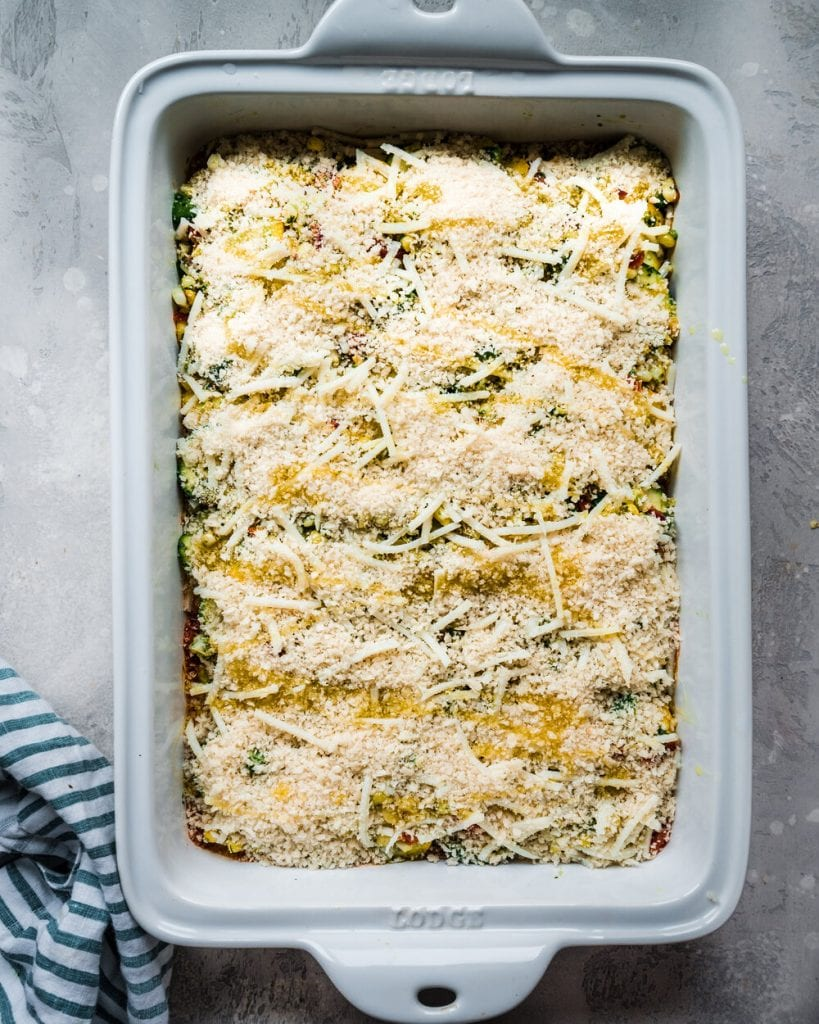 another layer of cheese in casserole pan