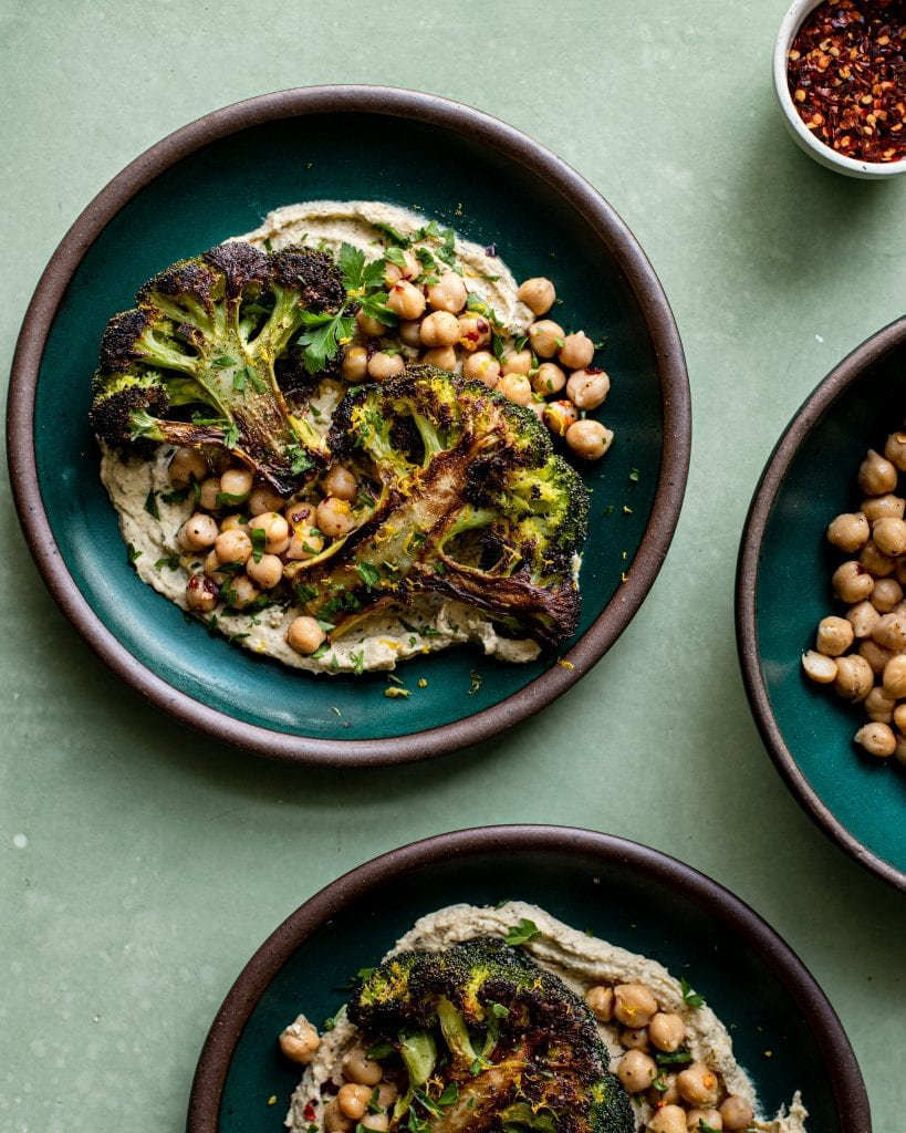roasted broccoli steaks recipe for veganuary