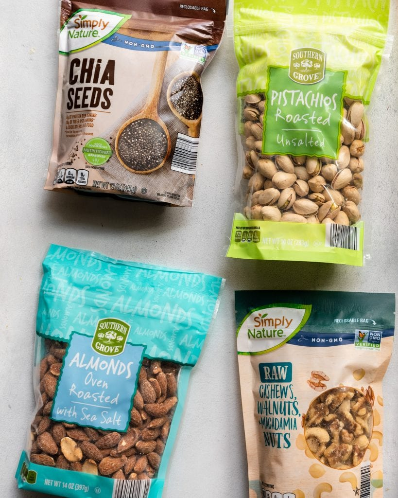 bags of nuts and seeds from ALDI
