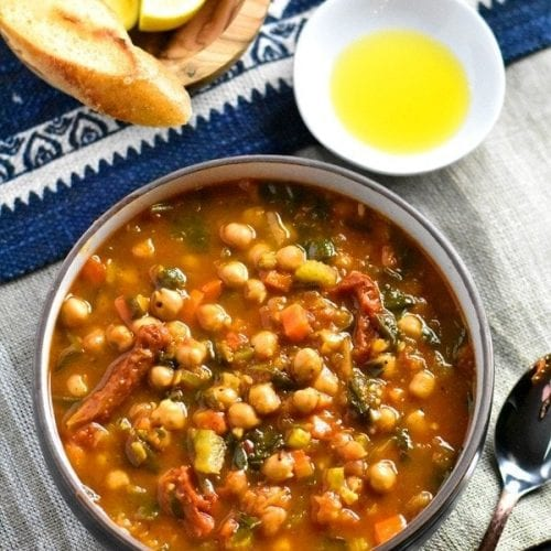 chickpea stew with lemons