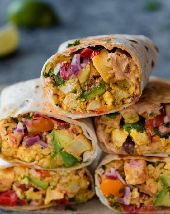 The Best Vegan Breakfast Burritos