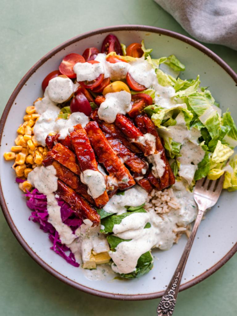BBQ Vegan Tempeh Bowl