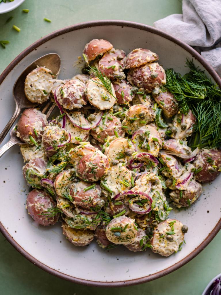 herbed vegan potato salad