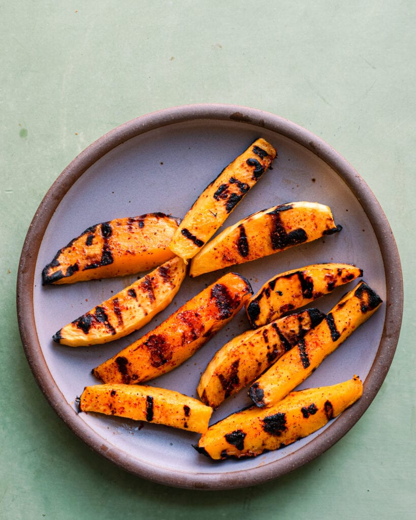 char grilled mango with chili-lime seasoning