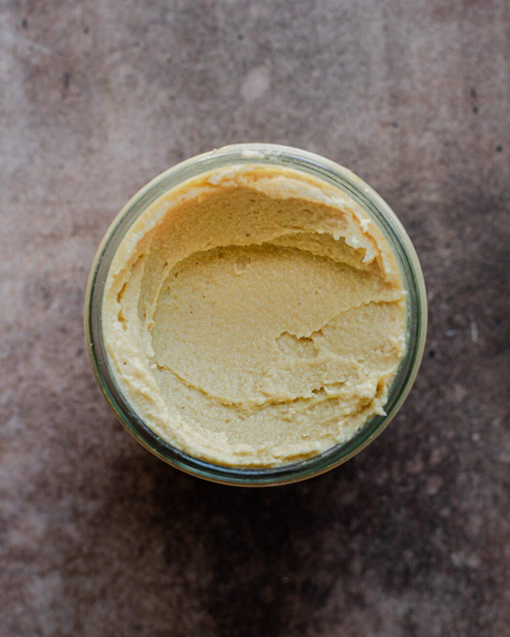 fermented cheese in jar, pre-fermenation