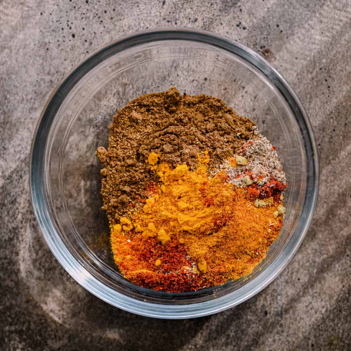 indian spice blend in glass bowl